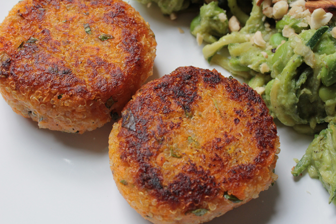 quinoa and sweet potato burgers recipe http://www.archieandtherug.com/