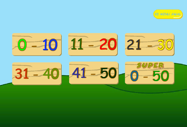 Halaman Materi game pengenalan angka