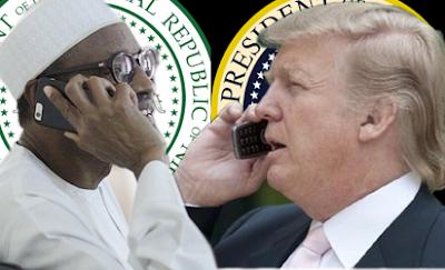 Image result for trump calls buhari