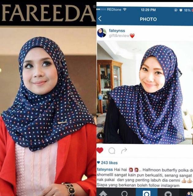 Tudung Fareeda Terbaru Adalah Fesyen Tudung Lama