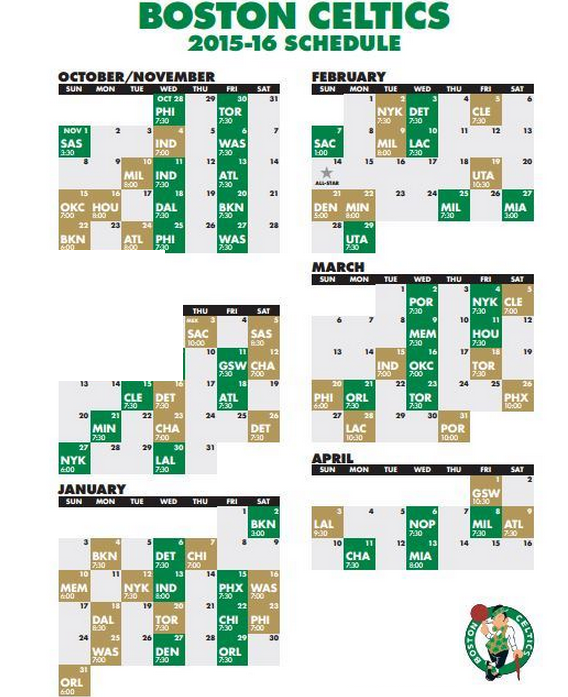 photo regarding 76ers Printable Schedule named Celtics Lifestyle: NBA program launched, Celtics open up vs 76ers
