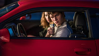 Ansel Elgort and Lily James in Baby Driver (13)