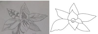 ilustrasi gambar batik daun