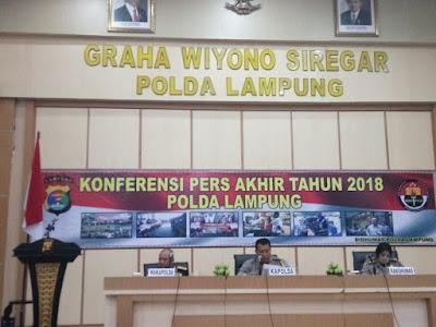 Refleksi Akhir Tahun, Polda Lampung Beber Pencapaian Internal dan Eksternal Selama Tahun 2018
