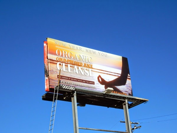 Erewhon Organic juice cleanse billboard