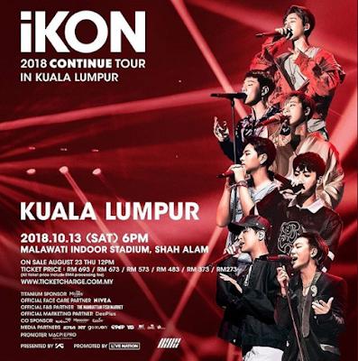 iKON 2018 CONTINUE TOUR IN KUALA LUMPUR in Malawati Indoor Stadium, Shan Alam
