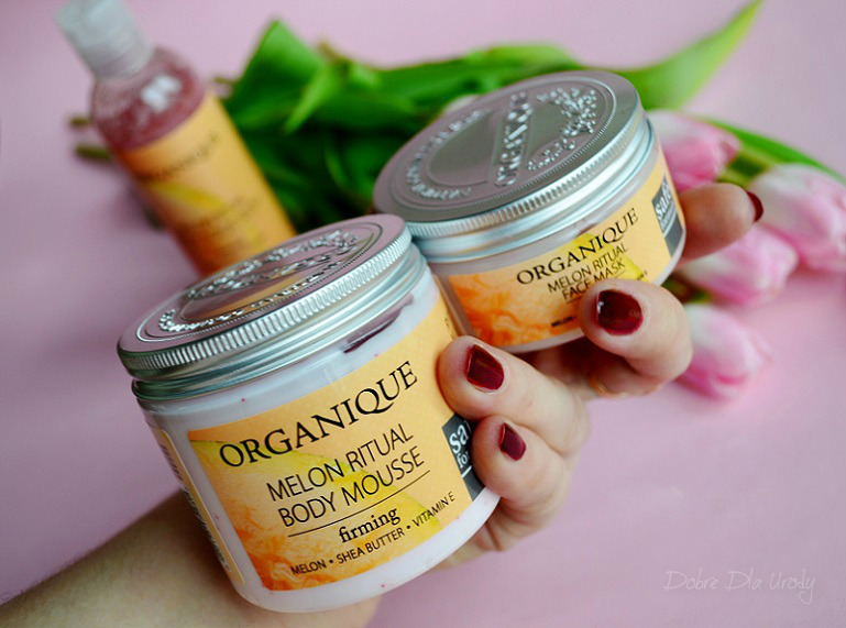 Organique Rytuały Owocowe - Melonowy: Maska do twarzy, Żel peelingujący i Mus do ciała