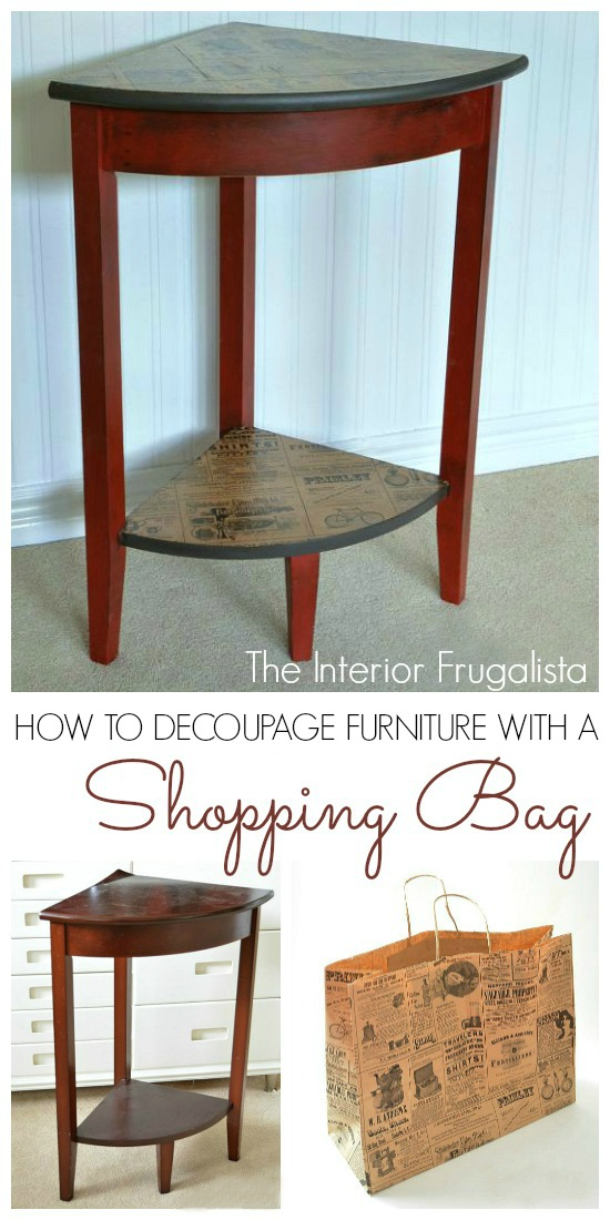 How To Decoupage Furniture With A Shopping Bag