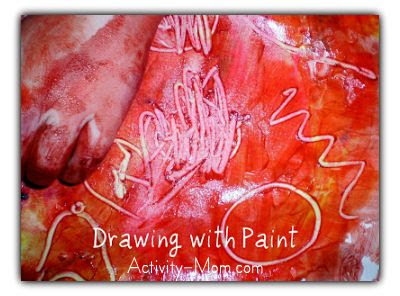 drawing with paint