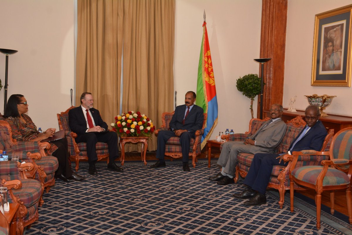 <President Isaias met and held talks with US Assistant Secretary for African Affairs