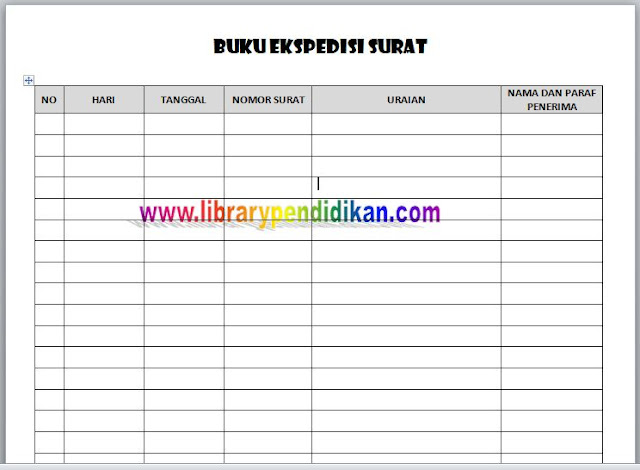 Download Buku Ekspedisi Surat Menyurat