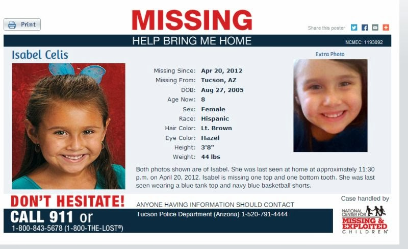 Amber Alerts and Missing Children Cases Updates: March 2014