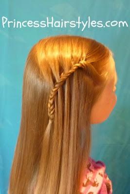 waterfall fishtail braid