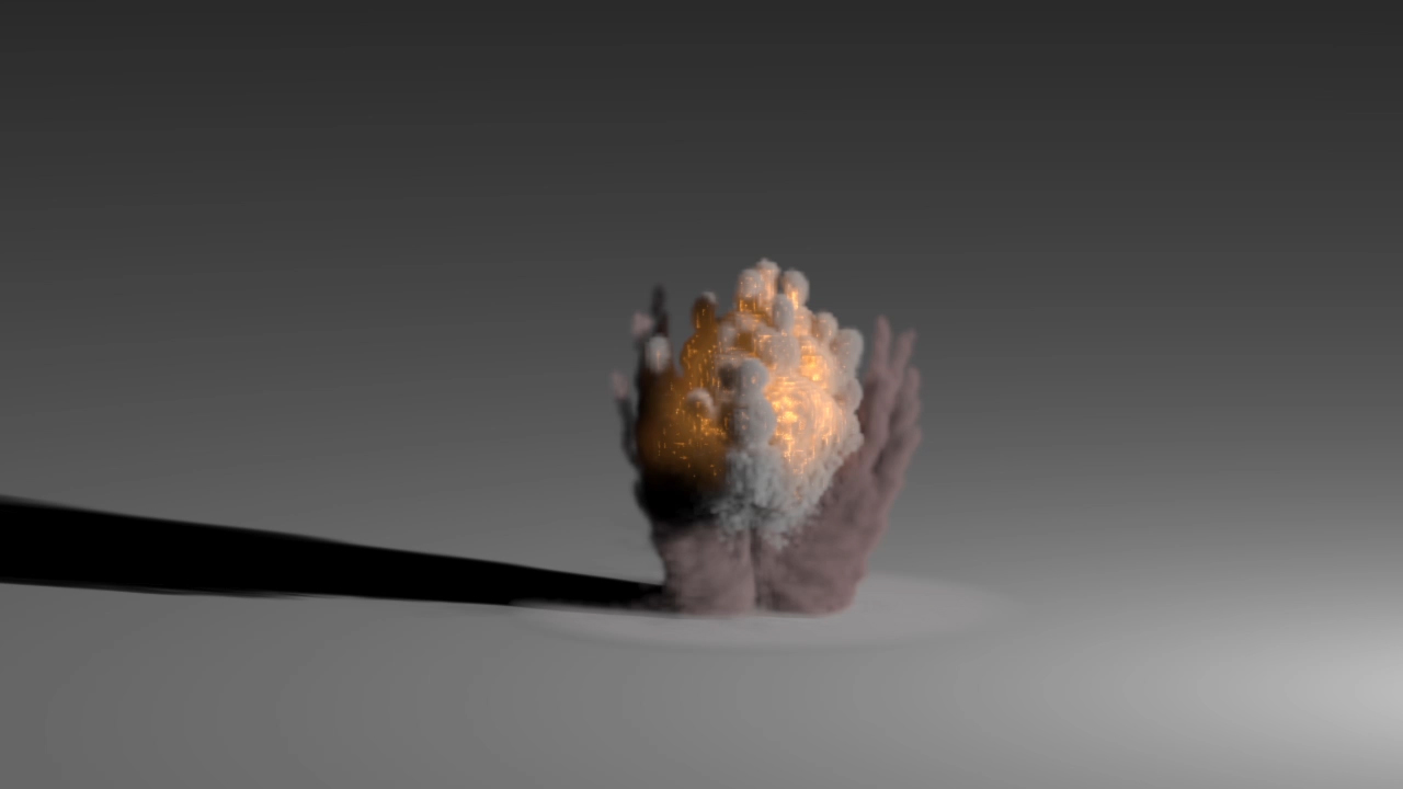 Fire Explosion Simulation VFX Test in Blender and 3dsMax2014