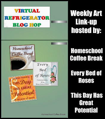 A Mondrian Memory on the Virtual Refrigerator art link-up hosted by Homeschool Coffee Break @ kympossibleblog.blogspot.com