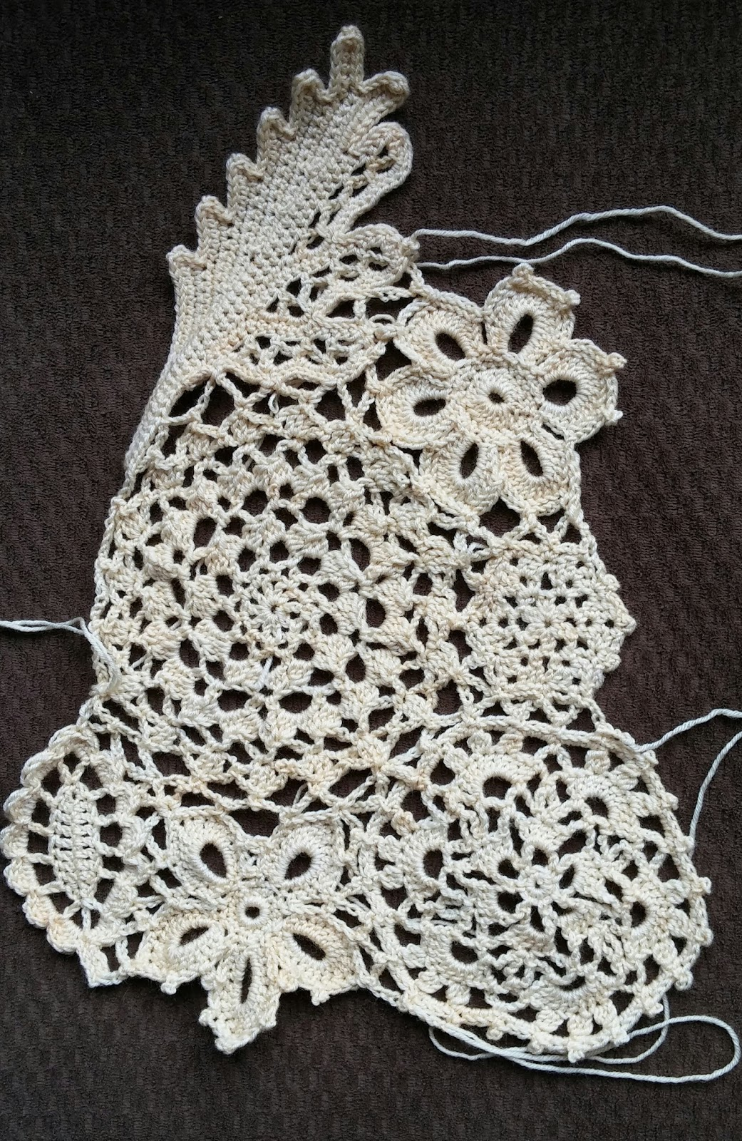 Since I did not know a lot about Irish Crochet, I started with my friend  Kathy White's The Go-To Book Of Irish Crochet as well as a few other motif  and ...