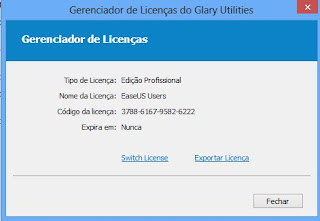 licença glary utilities pro license code