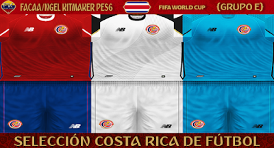 PES 6 Kits Costa Rica National Team World Cup 2018 by FacaA/Ngel