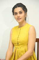 Taapsee Pannu looks mesmerizing in Yellow for her Telugu Movie Anando hma motion poster launch ~  Exclusive 029.JPG