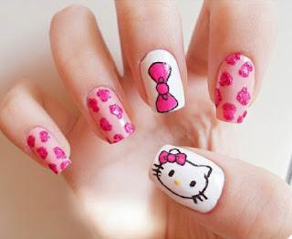 Gambar Nail Art Hello Kitty yang Cantik 10
