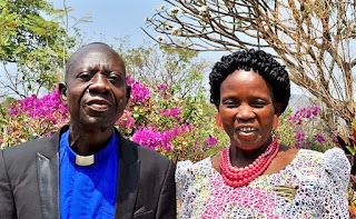 Pastor Makobo Young and his wife Beatrice