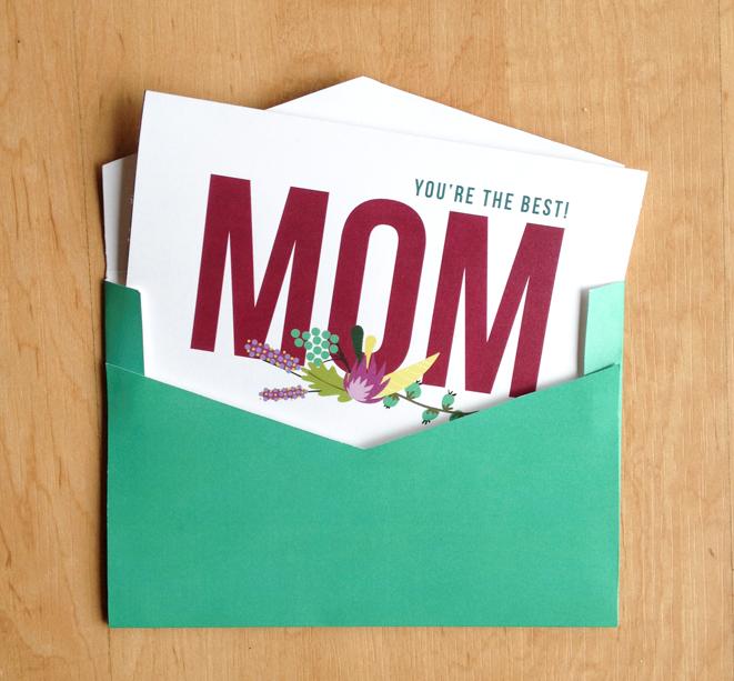 mother day card + envelope