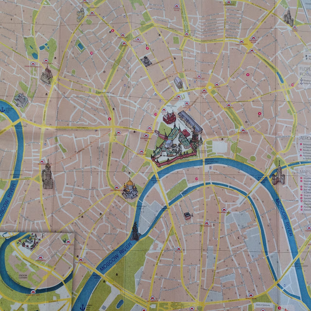 mapa de moscou e estações de metro