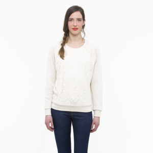 OATMEAL LACE SWEATSHIRT