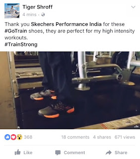 BOLLYWOOD ACTOR TIGER SHROFF TRAINS HARD WITH SKECHERS PERFORMANCE GOTRAIN