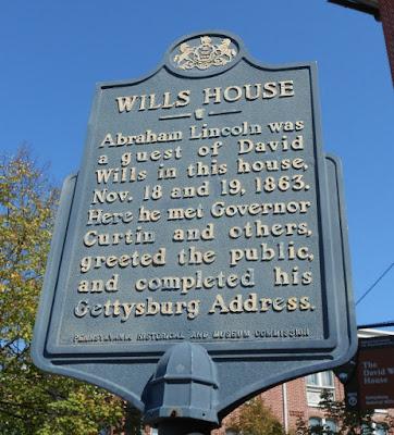 David Wills House in Gettysburg Historical Marker