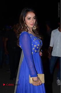 Telugu Actress Tejaswi Madivada Pos in Blue Long Dress at Nanna Nenu Na Boyfriends Audio Launch  0033.JPG
