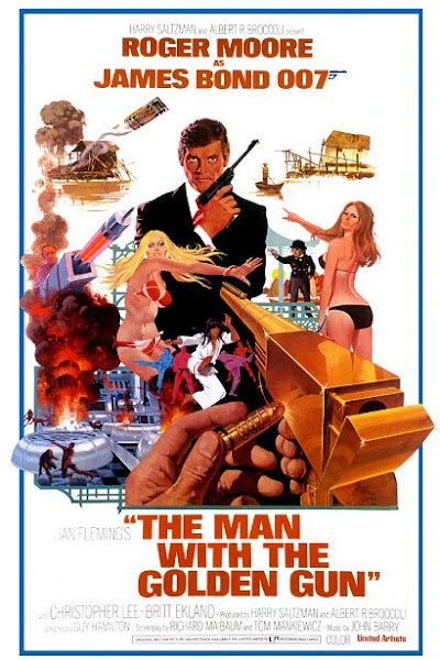 Poster of James Bond The Man With The Golden Gun 1974 720p Hindi BRRip Dual Audio