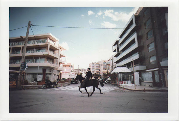 dirty photos - Once - street photo of man riding a horse in crete