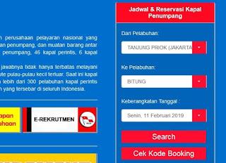 Cara booking tiket kapal laut pelni online