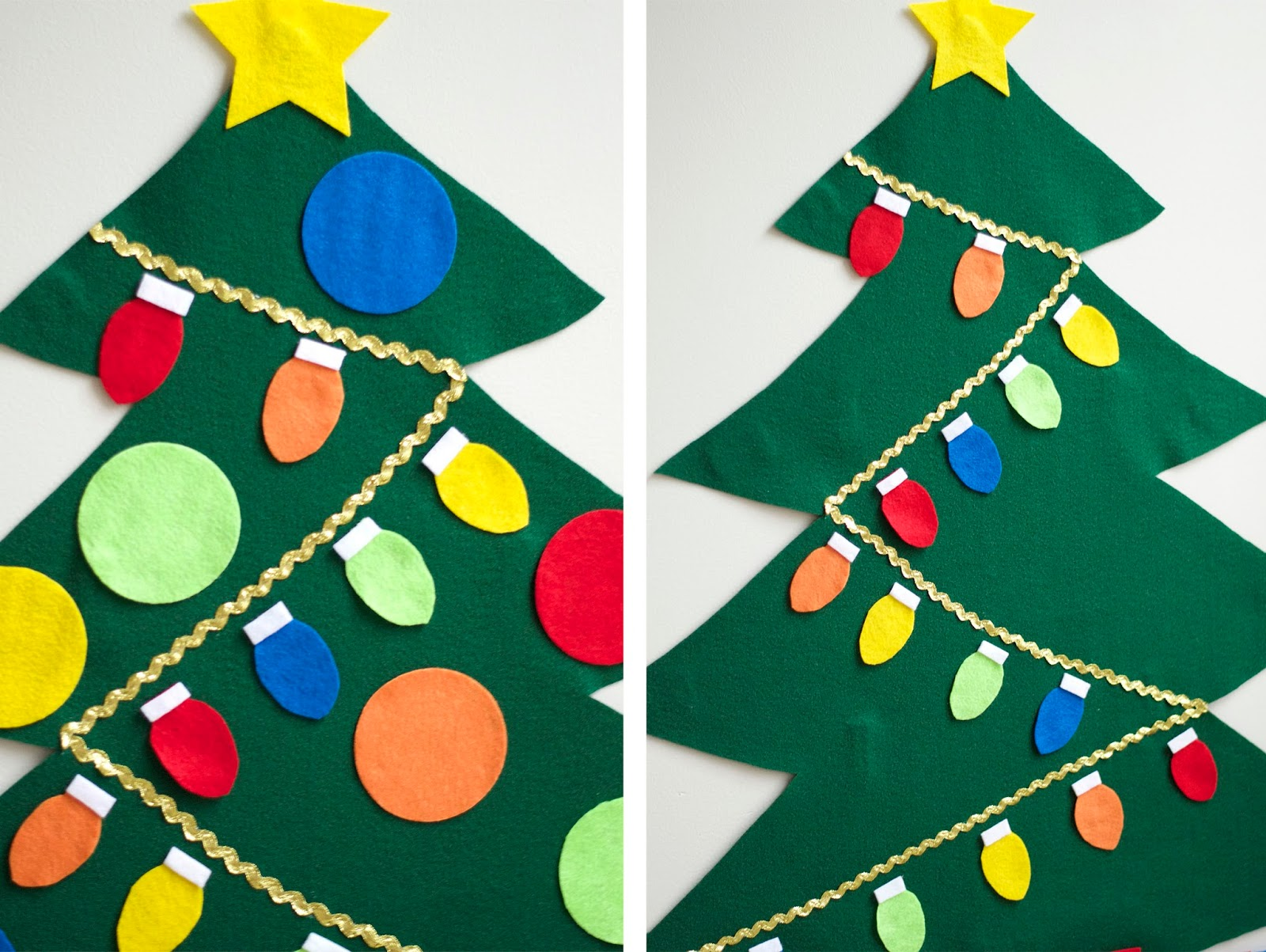 Felt Christmas Tree Pattern.No Sew Felt Christmas Tree Tutorial