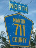Señales en la carretera 711