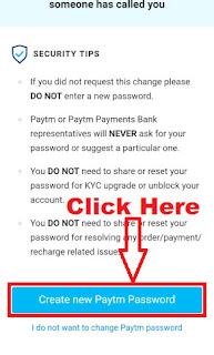 how to change paytm login password