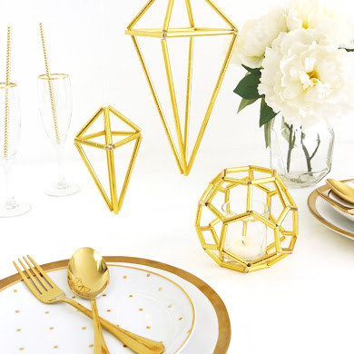 DIY Geometric Himmeli Party Decor