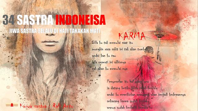 puisi karma | 34 sastra indonesia
