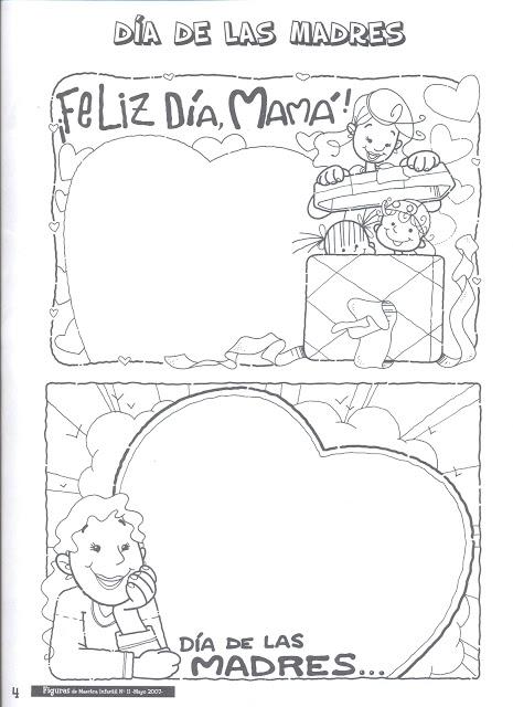 Dibujos día de la madre para imprimir y colorear | Trato o truco