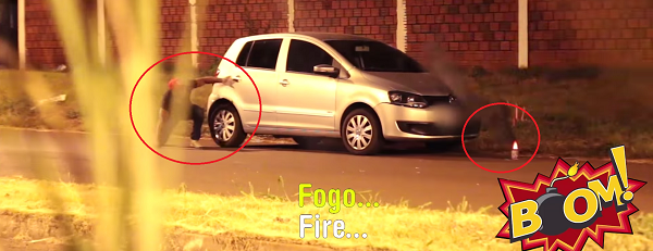 incendio en el coche