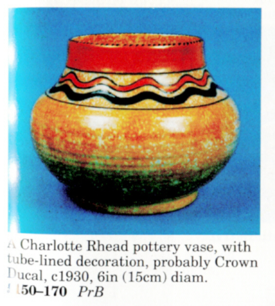 Crown Ducal Charlotte Rhead Pottery October 2017