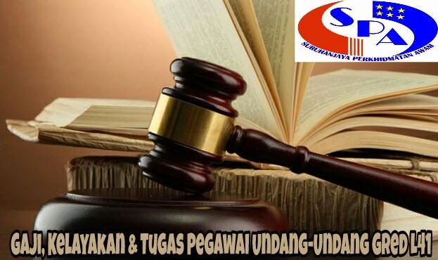 Gaji, Kelayakan & Tugas Pegawai Undang-Undang Gred L41