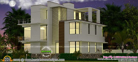 3 storied contemporary 5 bedroom home