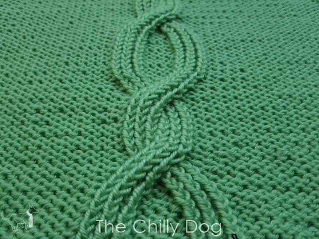 Learn how to knit the bold Six Strand Cable