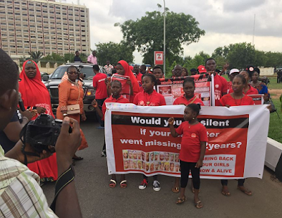 bring back our girls protesters shut out aso rock