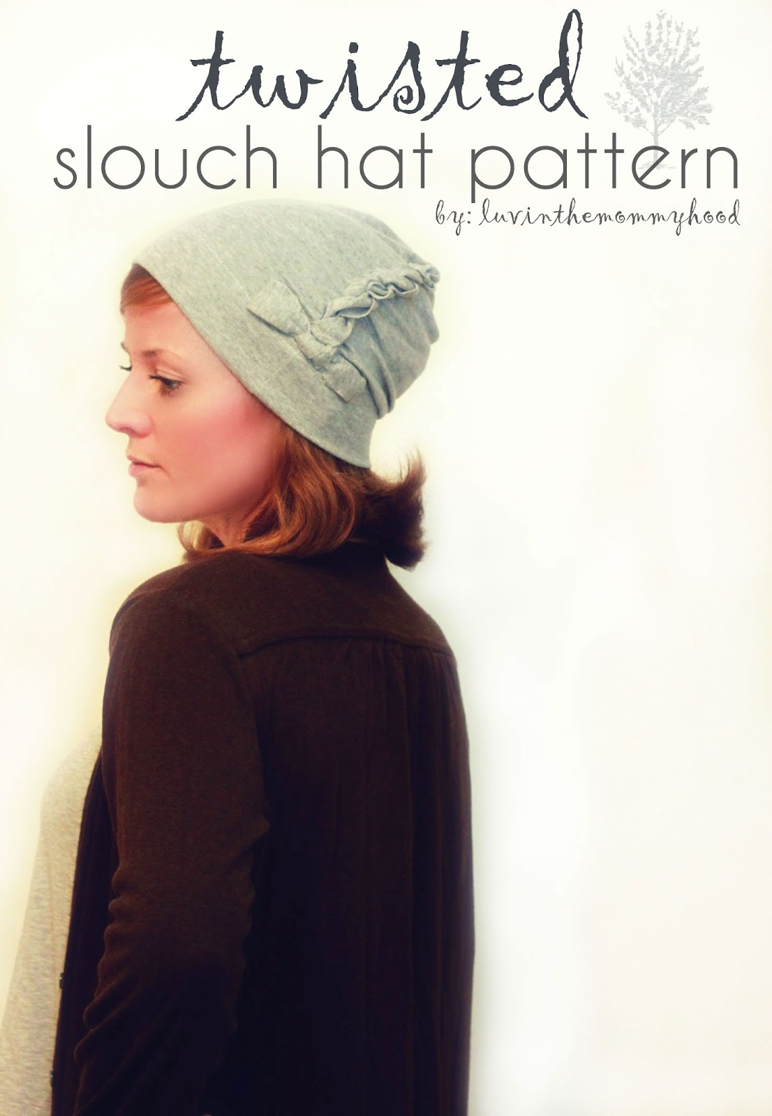 Sewing with KNITS  luvinthemommyhood presents the twisted slouch hat pattern ! 87df6bc4ffb