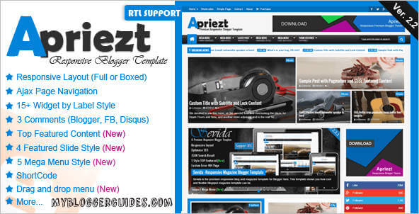 Apriezt Blogger Template, Best SEO Optimized Blogger Template, AdSense Friendly Blogger Template