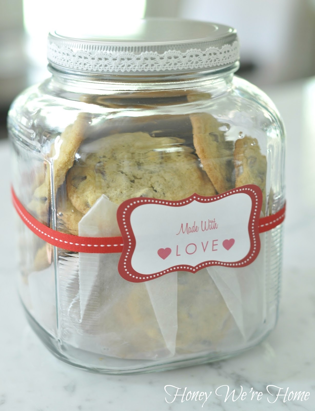 Nice Cookie Jars Homemade Cookies In A Gift Jar Honey We 39re Home