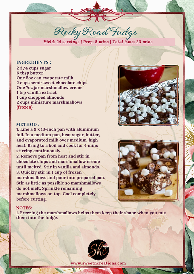 NO 1-ROCKY ROAD FUDGE WITH PECANS RECIPE